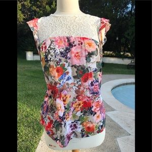 Tops - Flower/floral and lace blouse